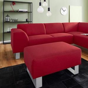 Inosign Ecksofa »Bingo«, rot, Ottomane rechts, B/H/T: 252x45x56cm, hoher Sitzkomfort