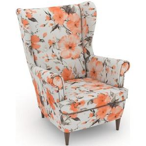 Max Winzer® build-a-chair Ohrensessel »Casimir« im Winchester-Look, zum Selbstgestalten, rosa