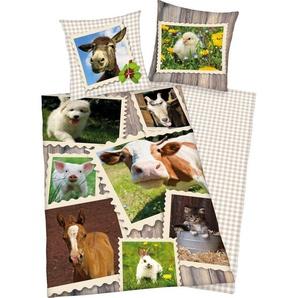 Kinderbettwäsche »Bauernhof«, Herding Young Collection, mit verschiedenen Tierbildern