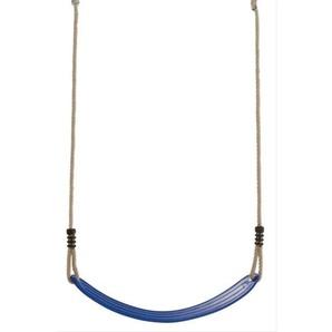 Schaukelsitz aus Kunststoff blau mit Seil
