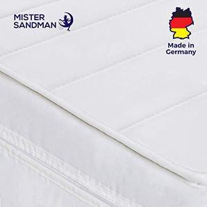 Mister Sandman ergonomische 7-Zonen-Matratze für erholsame Nächte – Kaltschaummatratze H2/H3 mit hochwertigem Matratzenbezug aus Mikrofaser, Höhe 15cm, 90 x 200 cm H2&h3