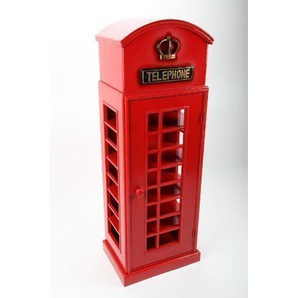 point home CD-Schrank CD-Turm Telefonzelle im Retrolook rot 105cm