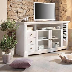 TV-Tisch Home affaire Breite 153 cm Belastbarkeit bis 40 kg, weiß, HOME AFFAIRE