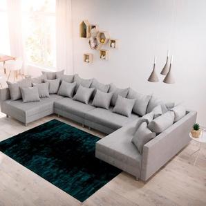 Wohnlandschaft Clovis XL Grau Flachgewebe Modulsofa, Design Wohnlandschaften, Couch Loft, Modulsofa, modular