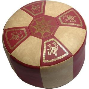 Home affaire Sitzkissen im orientalischen Design, rot, 1x 50x35 cm
