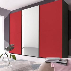 INOSIGN Schwebetürenschrank modernen Farbvarianten, matt rot/schwarz