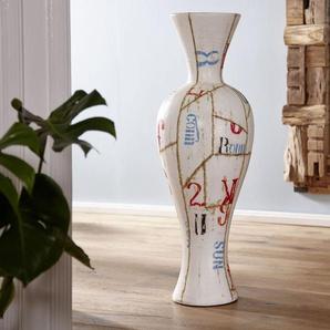 Vase Terrakotta 35x35x100 weiß DEKO #021