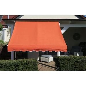 Grasekamp Klemmmarkise Ontario 200x130cm Orange  Balkonmarkise höhenverstellbar von 200  cm - 320 cm