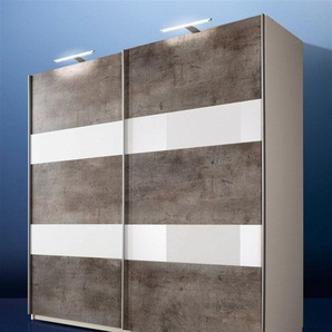 Schwebetürenschrank »Chess«, grau, Breite 135 cm, Wimex
