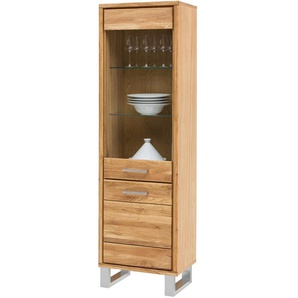 Carryhome: Vitrine, Holz, Glas,Wildeiche, Eiche, B/H/T 58 199 40