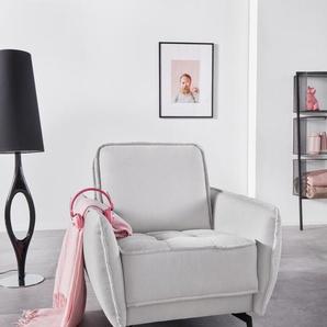 Inosign Sessel »Vigo«, silber, B/H/T: 86x45x51cm, hoher Sitzkomfort, FSC®-zertifiziert