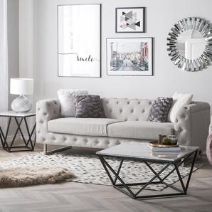 3-Sitzer Sofa Polsterbezug beige VISSLAND