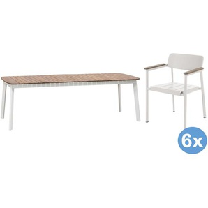Emu Shine Teak Gartenset 292x100 Tisch + 6 Stühle (mit Armlehnen)