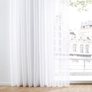 Transparente Gardine einfarbig weiß