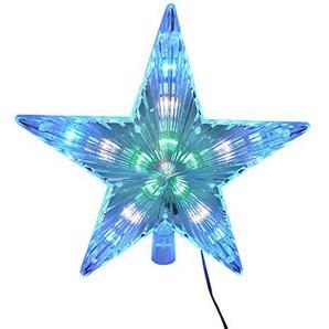 """Weihnachtsschmuck """"Stern"""", 24cm groß, batteriebetrieben, blinkend, für den Innenbereich, alsChristbaumspitze geeignet"""
