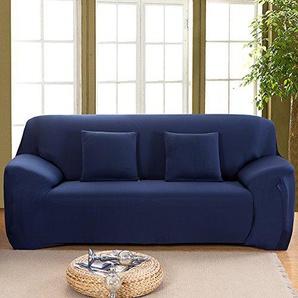 2 Sitzer Sofabezug Sofahusse Sesselbezug Sesselhusse Sofaüberwurf Elastisch Verfügbar In Verschiedenen Größen und Farben Blau