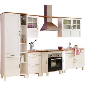Home affaire Küchen-Set »Alby«, ohne E-Geräte, Breite 325 cm, aus massiver Kiefer
