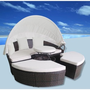Outdoor-Sonneninsel Poly Rattan Braun - VIDAXL