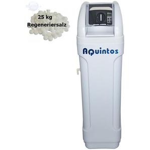 Wasserenthärter MKB 80 Eco-Line von Wasseraufbereitung | Entkalker mit Bypass-Funktion für 100% kalkfreies Wasser | Komplettset inkl. 25 kg Regeneriersalz - AQUINTOS-WASSERAUFBEREITUNG