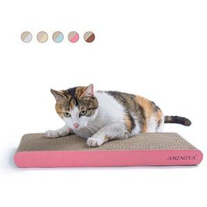 AMZNOVA Umwandelbar Kratzbrett für Katzen, Recycelbar Kratzpad, Wellpappe Kratzmatten Kratzlounge Kratzspielzeug mit Katzenminze