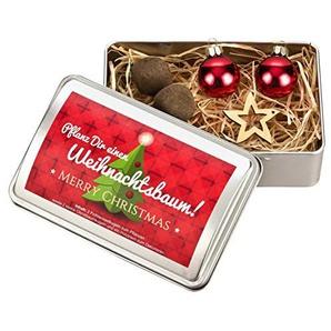 PflanzsetPflanz Dir einen Weihnachtsbaum - Fichtensaatkugeln - Weihnachtsgeschenk - Wichtelgeschenk - Nikolausgeschenk Mann Frau Kinder