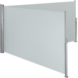 Alu Doppel Seitenmarkise 160 x 600 cm grau