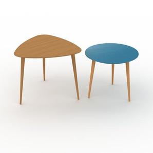 Couchtisch Blau - Eleganter Sofatisch: Beste Qualität, einzigartiges Design - 59/50 x 50/44 x 61/50 cm, Konfigurator