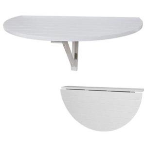 SoBuy® Wandklapptisch, Küchentisch, Esstisch, Kindermöbel, FWT10-W (Weiß aus Holz)