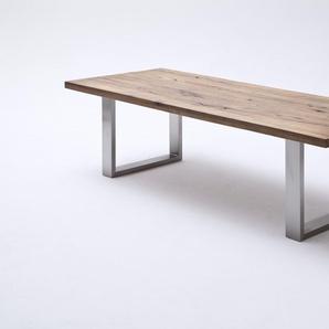 MCA Furniture Esstisch Castello Kufentisch wildeiche lackiert / 180x100 cm