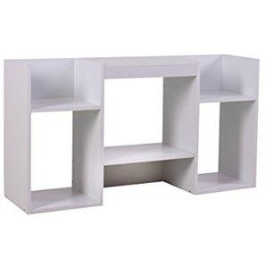 Mendler TV-Rack Fernsehtisch Standregal aus Holz 109x59x30 cm ~ weiß