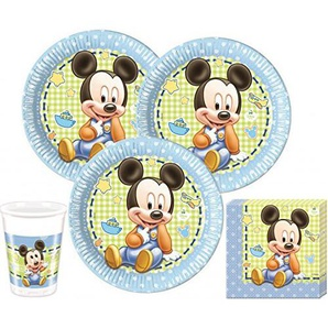 52 Teile Disney Baby Micky Party Deko Set für 16 Personen