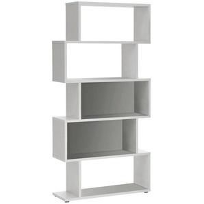 : Regal, Holzwerkstoff, Weiß, B/H/T 83,5 175,0 33