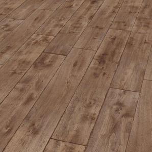 EGGER Laminat »HOME Vinstra Eiche grau«, 1,985 m²/Pkt., Stärke: 8 mm, braun