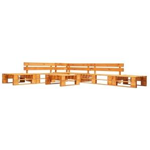 6-tlg. Garten-Paletten-Sofagarnitur Holz Honigbraun - VIDAXL