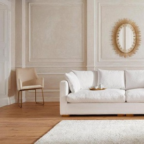 Guido Maria Kretschmer Home&Living Big-Sofa »Pantin«, extra weich und kuschelig, Füllung auch mit Federn und Daunen, weiß, Struktur fein