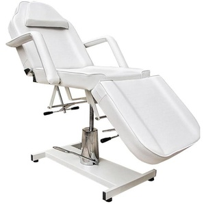 360° Massagestuhl Kosmetikstuhl Spa Kosmetikliege Behandlungsliege Weiß - EYEPOWER
