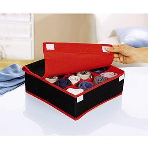 Tri Socken Aufbewahrungsbox Organizer Box Stoffbox Deckel klappbar Schublade Reise