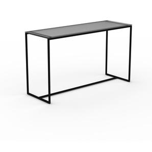 Konsolentisch Rauchglas satiniert - Eleganter Konsolentisch: Beste Qualität, einzigartiges Design - 121 x 71 x 42 cm, konfigurierbar