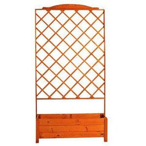 PROMADINO Holzspalier mit Pflanzkasten, BxTxH: 110x32x210 cm