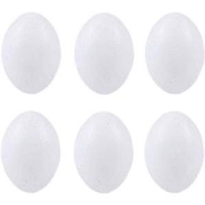 POPETPOP 10 Stücke Ostereier Dekoeier Plastikeier Nesteier Deko Kunststoff Eier zur Bruthilfe Taube oder Ostern Dekoration Basteln