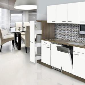 RESPEKTA Küchenzeile mit E-Geräten »York«, Breite 225 cm