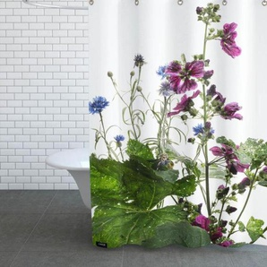 Flora - Wilde Malve - Duschvorhang