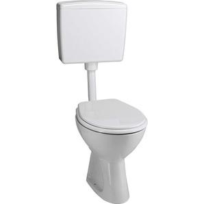 CMI Stand-WC-Set Tiefspüler Weiß Abgang waagerecht