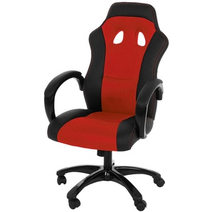 AC Design Race Bürostuhl 64x67x118cm Rot/Schwarz Rot/Schwarz