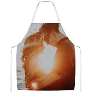 Doinh Backansicht von Hugging in The Sunset2Wolltuch Schürze für Männer und Frauen beim Kochen, Grillen und Backen
