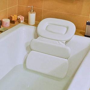 HALOViE Badewannenkissen Badewannenkopfkissen Optimales Badekissen Wasserdichter PU Schaum