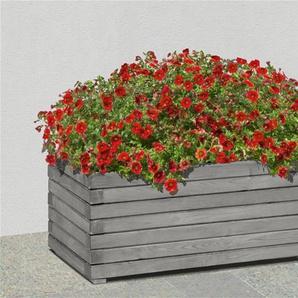 Pflanzkasten / Blumenkasten rechteckig Holz KI grau 60 x 40 x 35 cm