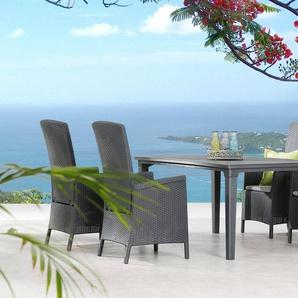 BEST Gartenmöbelset »Capri«, 5-tlg., 4 Sessel, Tisch 165x94 cm, inkl. Sitzkissen