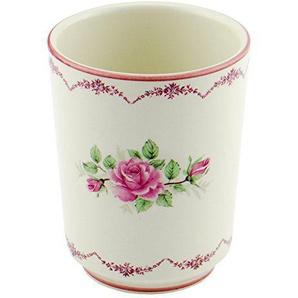 Zahnputzbecher Rosita Rose Keramik creme rosa Bad