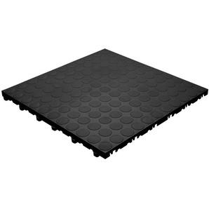 Plastoform Florco 6 Kunststofffliesen 40x40 cm spot schwarz